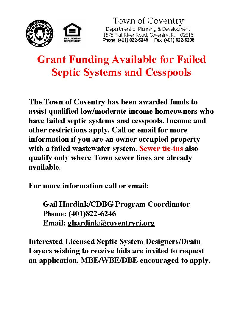 Septic Grant Funds